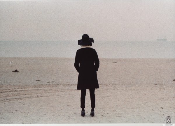 Karla Alone on beach – Analog color photography