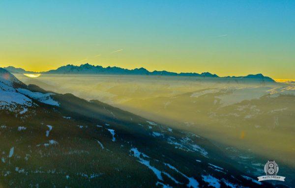 Vallée de la Tarentaise le soir – Alps