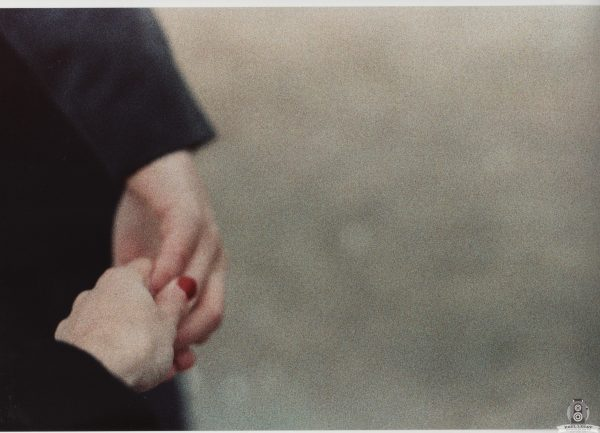 Paul and Karla holding hands – Analog photography