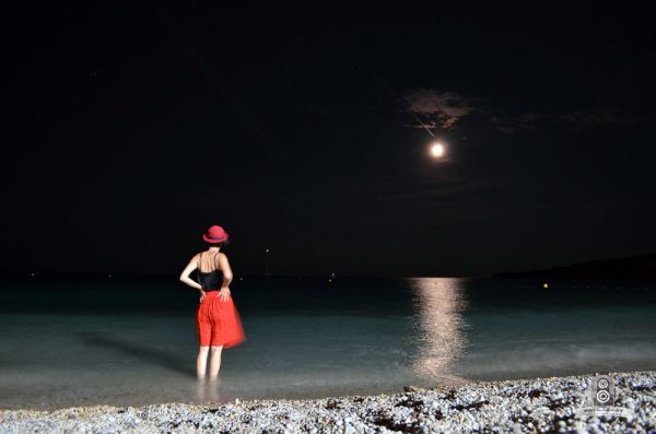 Cassis Seaside at moonlight, southern France