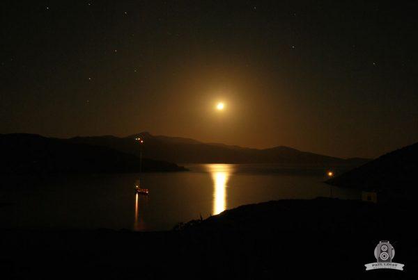 Amorgos Island at night, Greece