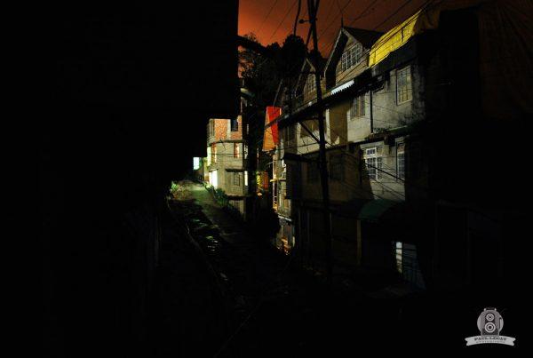 Nepali village at night