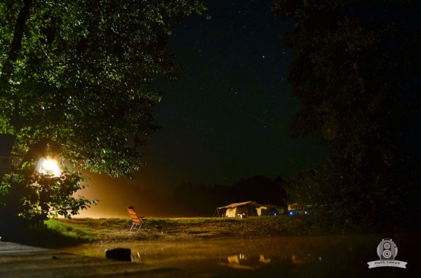 German Campground at night – long exposure photography