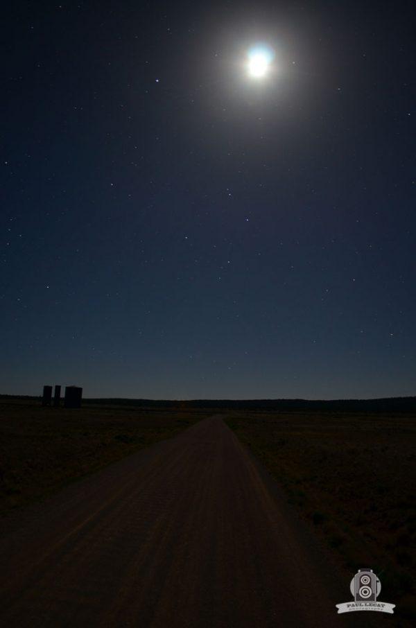 USA road at night – long exposure photography