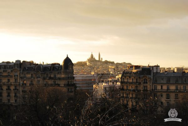 Paris view from Buttes chaumont