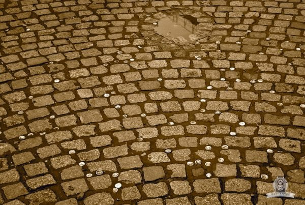 caps on pavement